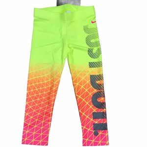 Nike Just-Do-It Dri-Fit Legging Volt Neon Yellow